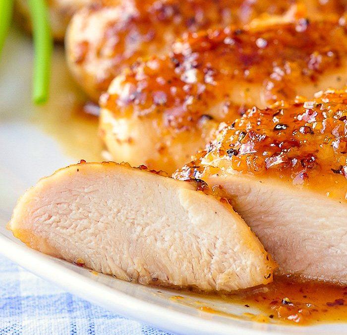 Pollo a la miel con ajo